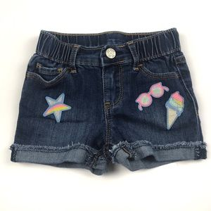 Gap Girls Patch Denim Shorts